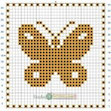 Filet Crochet Charts And Graphs Free Pattern Filet Crochet Butterfly Motif Chart Crochet