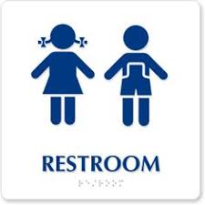 kids bathroom sign. Modren Kids Little Boys Girls Restroom Bathroom Door Sign Custom Vinyl Decal Sticker  SET 600 Via Etsy  Ninos Pinterest Room Signs Toilet And Bathroom  Intended Kids Sign O