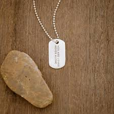 lasting bond dog tag necklace small