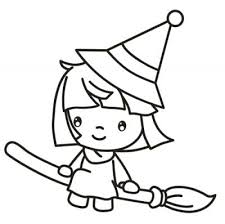 Cute Halloween Witch Coloring Pages Get Coloring Pages