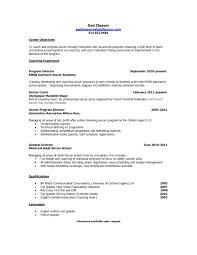 High School Student Resume Objective For College Elegant Resume