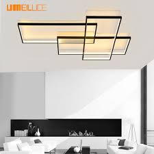 umeiluce free led ceiling light flush mounted aluminium black painting 40 inches ceiling lamp for