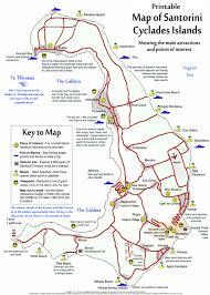 santorini  site map