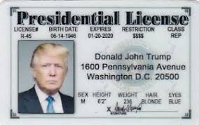 Ebay Card I Halloween J President For Trump Costume License Drivers Donald Item d