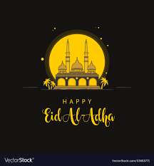 Happy eid al adha template design Royalty Free Vector Image