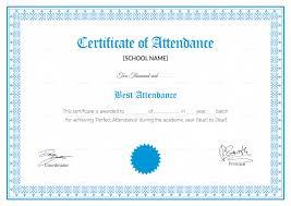 Attendance Certificate Template School Attendance Certificate Design Template In PSD Word 24