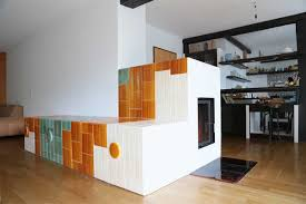 A New Stove Made From The Tiles Of Three Old Stoves By