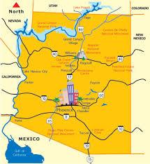 az map of scenic destinations places to visit in arizona Travel Map Of Arizona az map of scenic destinations travel map of arizona and utah