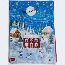 advent calander xmas advent calendar fabric panel
