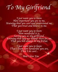 I Love My Girlfriend Quotes To My Girlfriend Poem Birthday Christmas Valentines Day Gift Present 78