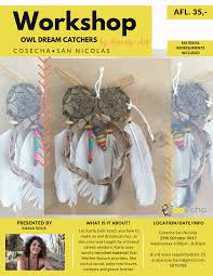 What Is A Dream Catcher Used For Owl Dream Catcher Workshop Hosted By Amany Art COSECHA Aruba 95