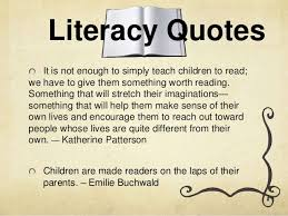 Literacy Quotes Impressive Balanced literacy