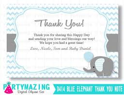 Baby Card Notes Editable Printable Baby Gift Thank You Elephant Baby Cards