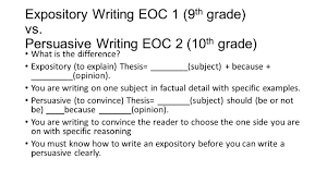 persuasive writing staar review ppt video online  expository writing eoc 1 9th grade vs