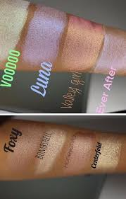 looxi beauty cosmetics highlighter swatches