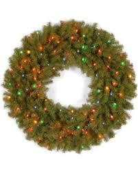 national tree company 36inch norwich fir wreath with multicolored lights national tree company wreaths c83