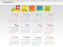 Powerpoint Calendar 2012 Presentation Template For Google
