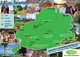 bohol map to help you on your travels  philippines homestay