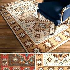 rug southwest style hand tufted southwestern wool area rugs throw tucson for az t