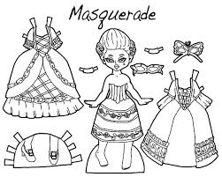 Small Picture Coloring Pages Of Dresses Best Design A Outfit Masquerade Doll
