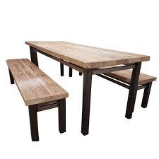 industrial reclaimed wood furniture. Vardo Industrial Steel Reclaimed Wood Dining Table Furniture E