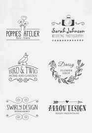 ナチュラルテイスト かわいいロゴデザイン多数ありますデザインの参考