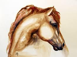 horse head painting horse head 3 by leyla munteanu