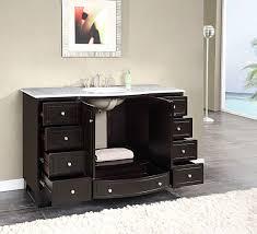sinks 42 single sink bathroom vanity silkroad 55 inch single sink bathroom vanity carrara white