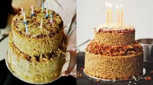 Bukan Berbahan Tepung Kue Ulang Tahun Ngehits Ini Terbuat Dari Mie