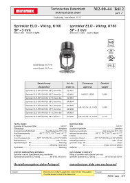 Sprinkler K Factor Chart Sprinkler Elo Viking K160 Sp