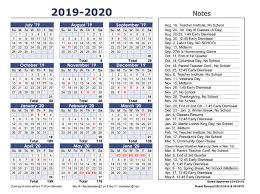 Image Of 2020 Calendar District