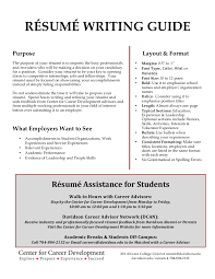 College Resume Tips New Davidson College Résumé Writing Guide