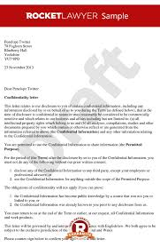 Letter Of Agreement Samples Template Inspiration Letter Of Confidentiality Create A Simple Confidentiality Letter