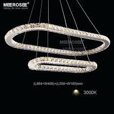 led chandeliers lights crystal led pendant lights silver steel kitchen lighting pendants round ring led re