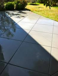 modern concrete patio. Concrete Patio With Large Joints For A Modern Appeal