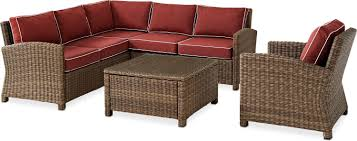 Destin 3Piece Outdoor Sectional Chair And Cocktail Table Set Three Piece Outdoor Furniture