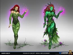 Poison Ivy Designs Artstation Dc Legends Poison Ivy Concept Dawn Carlos