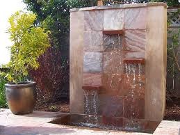 how to build a glass waterfall for your backyard water walls build a wall fountain