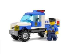 City Police Pickup Truck 84 pcs Bricks Building Block Sets Fit Lego ...
