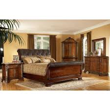 black brown leather bedroom furniture