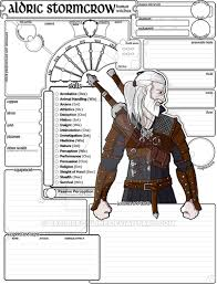 dungeons and dragons character sheet online commissioned character sheet 5e dnd aldric by basiliskonline on