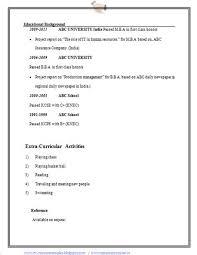 Resume Format For Bba Graduates Bba Cv Sample Cv Formats Free Resume  Templates For Bba Cv
