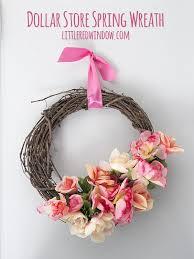 diy dollar spring wreath with tutorial littleredwindow com