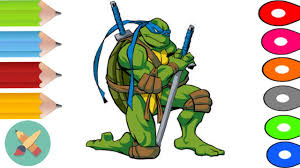 Teenage Mutant Ninja Turtles Coloring Pages - Learn Colors ...