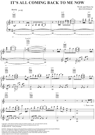 all of me sheet music piano easy its all coming back to me now sheet music for piano and more