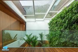 Que tal utilizar a cobertura, telhado, pergolado ou clarabóia de vidro com estrutura de alumínio ou inox! Cobertura De Vidro Residencial Vidro Laser