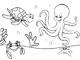 Ocean Animals Color Pages Coloring Pages Of Ocean Animals Homelandsecuritynews