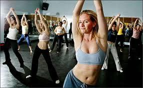 Aerobic class strip tease