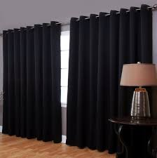 thermal curtain panels for sliding glass doors