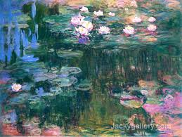 waterlilies pink by claude monet paintings reion